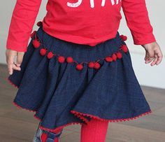 Your little girl will feel like a beautiful ballerina in this Swirly Twirly Circle Skirt. This free skirt pattern will help you easily learn how to make a skirt that is adorable, unique, and full of fun.