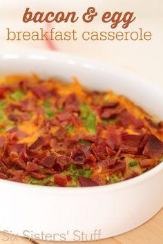 Bacon and Egg Breakfast Casserole