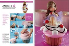 cake tutori, porcelana fria, cups, cupcakes, polym clay, en porcelana, biscuit, fondant tutorial, sugar