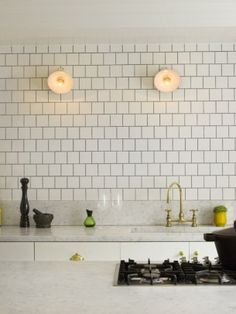 faucet, interior, squares, marbles, notting hill, brass, subway tiles, grout, white kitchens