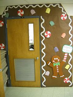 decorate the door like a gingerbread house!