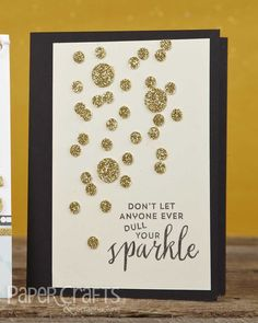 Confetti Sparkle card by Kalyn Kepner from Paper Crafts & Scrapbooking November 2014; participate in the November Gallery Challenge!