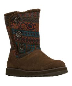 This Chocolate Cardigan Keepsakes Boot by Skechers is perfect! #zulilyfinds