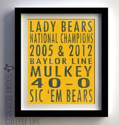 Lady Bears. Sic 'em.