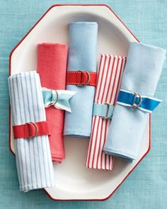 Festive Napkin Rings for July 4th holiday!