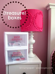 Treasure boxes--to keep kids organized and moms happy!
