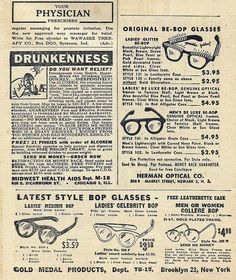 ☞ MD ☆☆☆ 1950 - Prostate massaging/Cure drunkeness/Original Be-Bop Glasses.