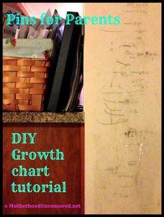 Pins for Parents: DIY Growth Chart -- Haha!
