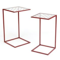 red slipper, quatrefoil red, set, kirkland pinitpretti, coffee, slipper accent, accent tables, metal nest, foil metal