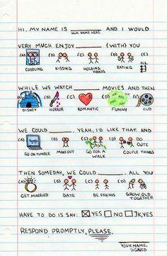 Una original carta de amor.