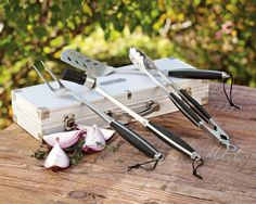 Monogrammed Grill Tools Set with Storage Case   Williams-Sonoma