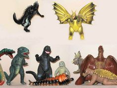 """Destroy All Monsters""6 inch figures, via Flickr."