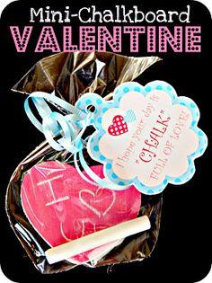 Mini Chalkboard Valentines - CUTE!