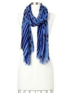 I love the textures in this scarf.  @Gap