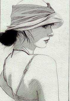 Girl with hat.