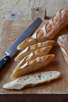 I like to slice baguettes on an angle when making crostini or bruschetta -Ina Garten