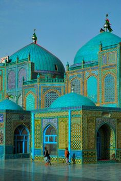 """The magnificent Blue Mosque at Mazar e Sharif, in Herat, North Afghanistan, believed to be the burial ground of Ali Ibn Abi Talib, cousin and son in law of the Prophet Muhammad, and Islam's fourth caliph. Mazar-e-Sharif means """"Tomb of the Exalted."""""""