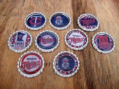 Minnesota Twins Bottlecap Magnets by coolcraftsandmore on Etsy, $6.00