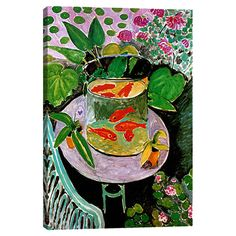 Add gallery-worthy appeal to your walls with this canvas print of Henri Matisse'sThe Goldfish (1912). Display it alone as an artful focal point or g...