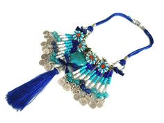 FreeShipping Glass Beaded Blue Authentic by ANATOLIANDESIGN01, $42.50