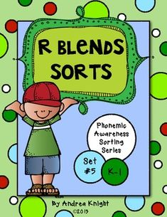 R-Blends Sorts {Phonemic Awareness Sorting Series, Set #5}  Help students practice their beginning r-blends with these sorting sheets... perfect for homework, small group remediation, literacy centers, or morning work.  $