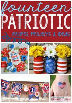 14 Patriotic Recipes, Projects  Ideas at GingerSnapCrafts.com