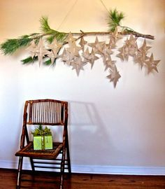 advent holiday, paper stars, school, candies, ornament, tree branches, pine, diy projects, christmas advent calendars
