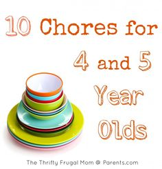 10 Chores for 4 and 5 Year Olds
