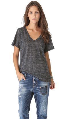 Enza T-shirts are the coziest, year round wardrobe staple. jean, enza costa, enza tshirt, wardrob stapl, shorts, fall fashion, neck tee, wardrobe staples, sleeves