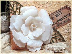 "The Funkie Junkie: ""porcelain"" look flower http://thefunkiejunkie.blogspot.com/2013/03/talk-about-challenges.html"