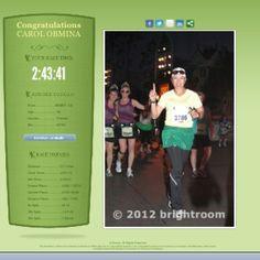 My first Half Marathon. The Inagural Tinker Bell Half Marathon @ Disneyland