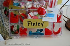 fishing theme party favor