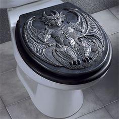 Sweet toilet seat lid!