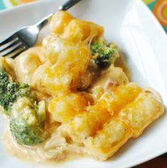 cheddar, food, tater tots, tatertot, broccoli, tot casserol, recip, tator tot, chicken tater
