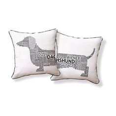 Dachshund Typography Pillow...my Hershey :)