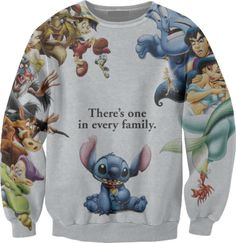 "Disney Sweater: ""there's one is every family"""