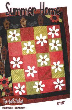 Quilt Folk Art Primitive Pattern  Summer Home by PrimitiveQuilting, $10.00