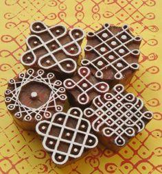 Kolam Blocks (set of 6) from Matsya Crafts