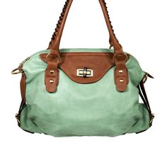 I love the Miztique Two-Tone Satchel with Buckles from LittleBlackBag