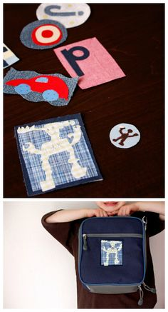 Kids create DIY patches! Cool way to personalize kid's clothes and accessories.