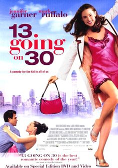 13 going on 30 Movie. This movie's hilariously cute!! :D Plus Mark Ruffalo's super cute. Going to do the thriller dance at my wedding just like them! xD