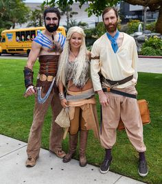 Halloween Costume idea: Khal Drogo, Daenerys Targaryen, Jorah Mormont by uncle_shoggoth, via Flickr