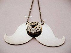 Steampunk  Moustache Necklace by KoollooK on Etsy, $44.90
