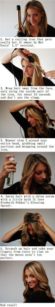 curl your hair wand-style with a regular curling iron