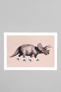 Chase Kuntz For Society6 Triceratops Print  #UrbanOutfitters