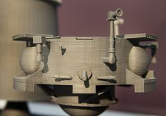 3-D printed model of spacecraft being designed by the Penn State Lunar Lion team.