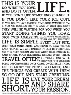 The Live Life Manifesto (Holistee)   11 Manifestos That Could Change Your Art & Life
