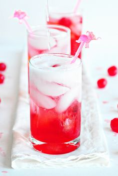 cherry poke cake cocktail |     2 ounces Pinnacle Cake Flavored Vodka      1 ounce fresh lime juice      4 ounces cold Sprite or 7-Up      1 ounce cherry juice (from the Maraschino cherry jar)      Maraschino cherries for garnish    Instructions        Fill a highball glass with ice      Pour Cake Flavored Vodka, Lime Juice, Sprite or 7-Up and Cherry Juice over ice. Stir well.      Garnish with cherries.