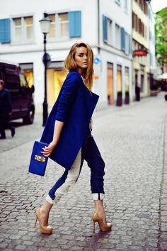 cobalt blue coat --perfection