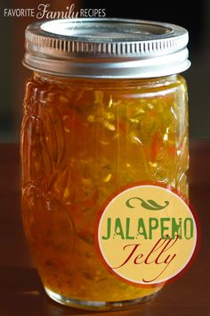 Jalapeno Jelly -- this is amazing on crackers with cream cheese! Also makes a great glaze over pork!  Great gift to give to neighbors and teachers!